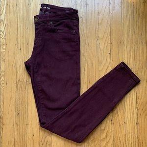 Alex Skinny Merlot Jeans